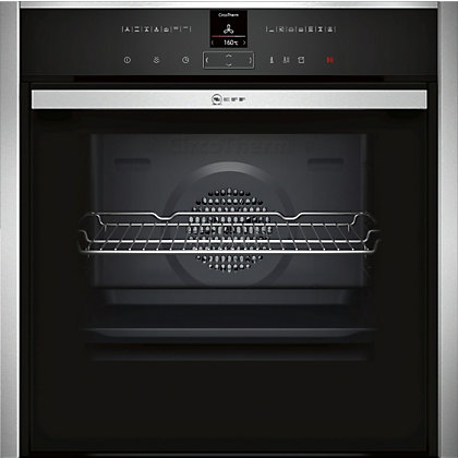 Image for Neff B47VR32N0B Slide & Hide Single Multifunction Oven - Black Glass & Stainless Steel from StoreName