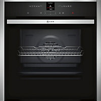 Neff B57CR22N0B Built-in Single Pyrolytic Oven - Black Glass & Stainless Steel