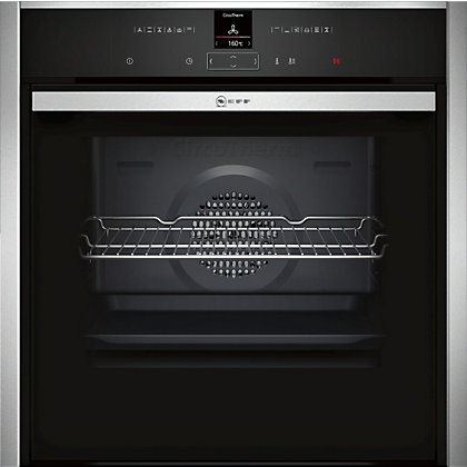 Image for Neff B57CR22N0B Single Pyrolytic Oven - Black Glass & Stainless Steel from StoreName
