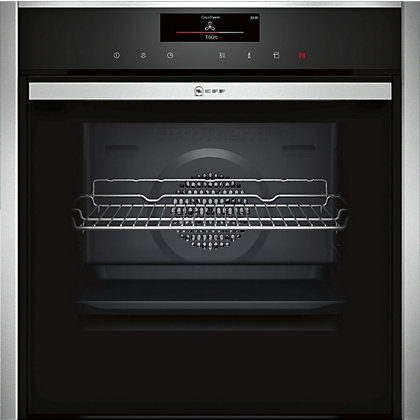 Image for Neff B58VT68N0B Single Pyrolytic Oven - Black Glass & Stainless Steel from StoreName