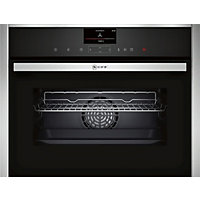 Neff C17FS32N0B Combination Steam Oven - Black Glass & Stainless Steel