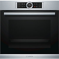 Bosch HBG634BS1B Multifunction Single Oven - Brushed Steel