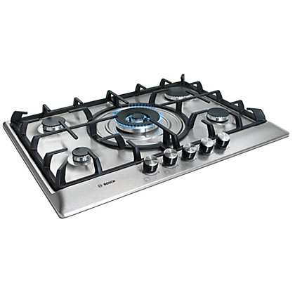 Image for Bosch PCQ715B90E 70cm Gas Hob - Stainless Steel from StoreName