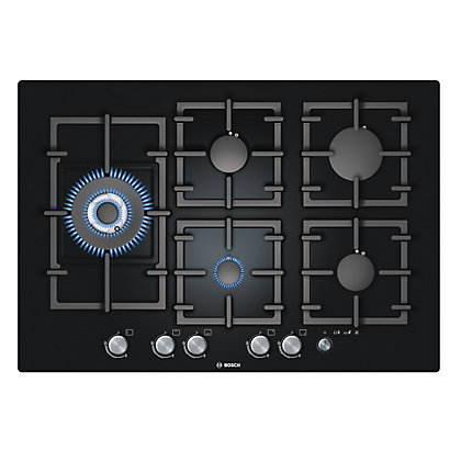 Image for Bosch PPS816M91E Gas Hob - 70cm - Black from StoreName