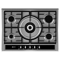 Neff T26S56N0 Wide Gas Hob - Stainless Steel