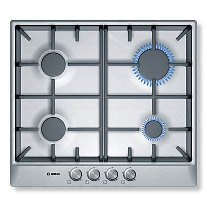 Image for Bosch PCP615B90B Gas Hob - 60cm - Stainless Steel from StoreName