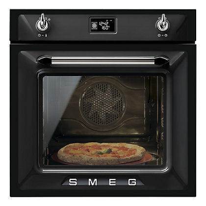 Image for Smeg SFP6925NPZE Pyrolitic Single Oven - Black from StoreName