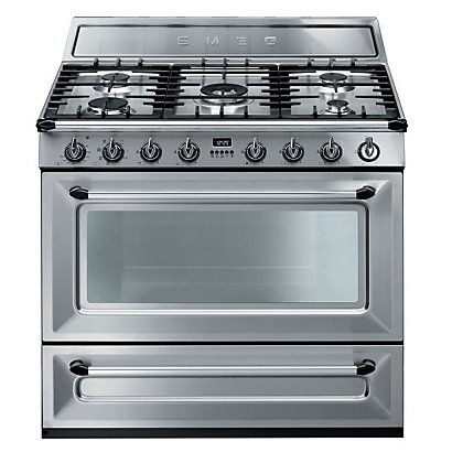 Image for Smeg Victoria Dual Fuel Single Cavity Range Cooker - Stainless Steel from StoreName