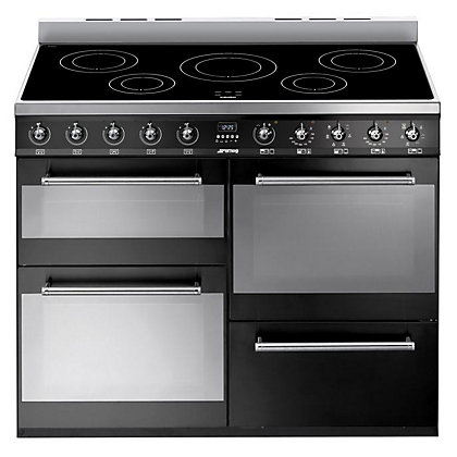 Image for Smeg SYD4110IBL 4 Cavity Range Cooker - Black from StoreName