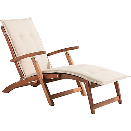 Peru wooden deck chair for Garden decking homebase