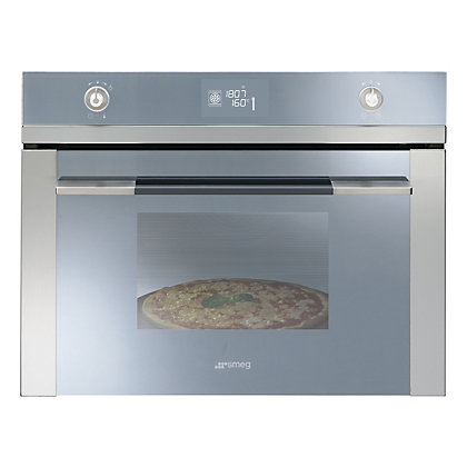 Image for Smeg SFP4120PZ Linea Multi Function Pyrolitic Compact Oven - Stainless Steel from StoreName