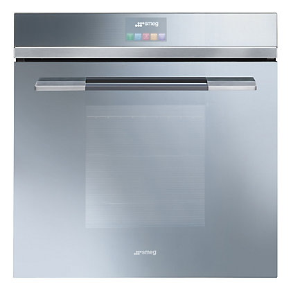 Image for Smeg SFP140SE Pyrolytic Touch Control Multi Function Single Oven - Silver from StoreName