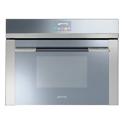 Image for Smeg SF4140VC Linea Silver Compact Combination Steam Oven - Stainless Steel from StoreName