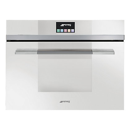 Image for Smeg SF4140VCB Linea Compact Combination Steam Oven - White from StoreName