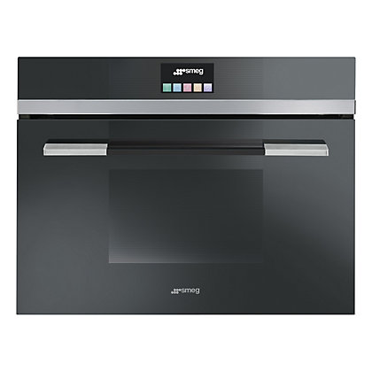 Image for Smeg SF4140VCN Linea Compact Combination Steam Oven - Black from StoreName