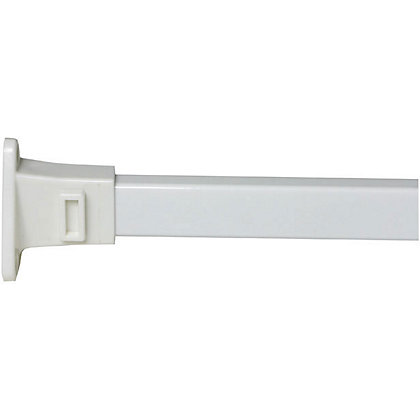 Image for Modular Shower Curtain Rail Set - White from StoreName