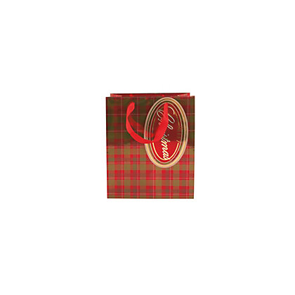 Image for Metallic Tartan Gift Bag Medium from StoreName