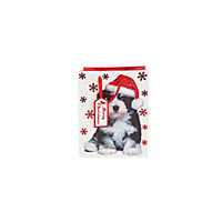 Christmas Puppy Gift Bag Large