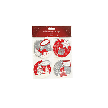 Image for Red Contemporary Gift Tags 12 pack from StoreName