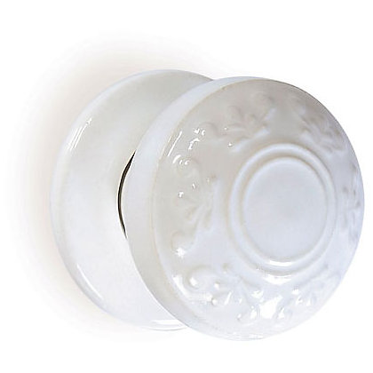Image for Boston Motif Porcelain Mortice Door Knob - White from StoreName