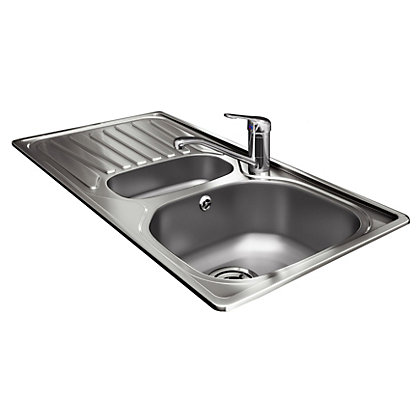 Image for Carron Phoenix 1.5 Bowl Sink and Tap Package from StoreName