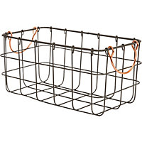 Large Metal Wire Basket With Handle