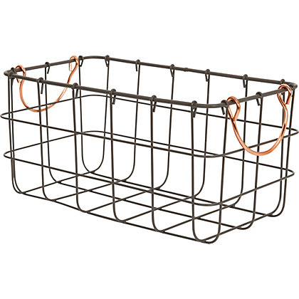 Image for Large Metal Wire Basket With Handle from StoreName