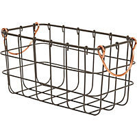 Small Metal Wire Basket With Handle