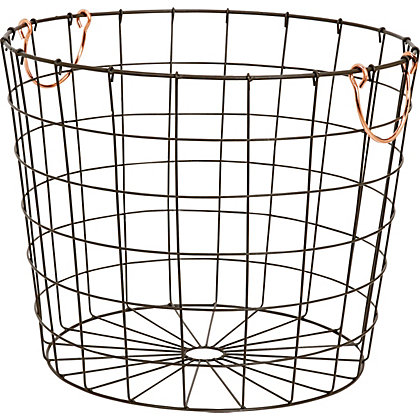 Image for Round Metal Wire Basket from StoreName