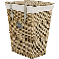 Willow Laundry Basket With Grey Straps