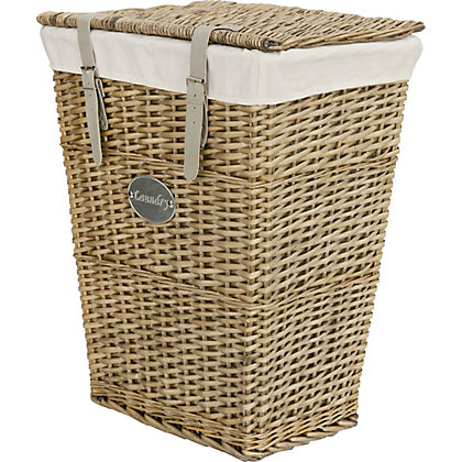 Image for Willow Laundry Basket With Grey Straps from StoreName