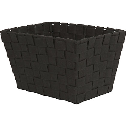 Image for Small Black Woven Fabric Basket from StoreName