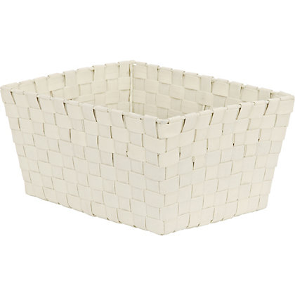 Image for Large Cream Woven Fabric Basket from StoreName