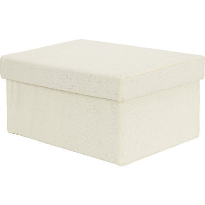 Image for Small Cream Storage Box from StoreName