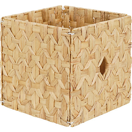 Image for Diamond Weave Water Hyacinth Storage Cube from StoreName