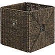 Brown Seagrass Storage Cube