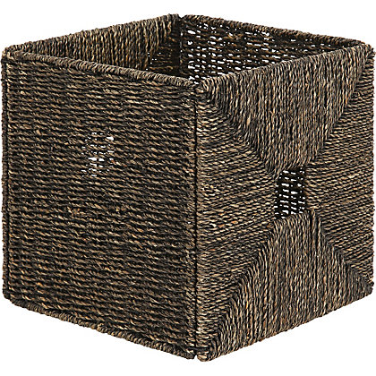 Image for Brown Seagrass Storage Cube from StoreName
