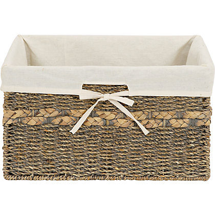 Image for Grey Washed Storage Basket from StoreName