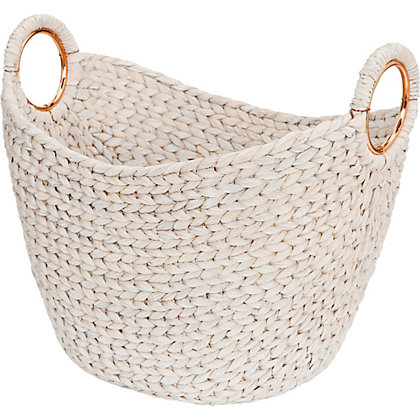 Image for Oval Basket White Washed from StoreName