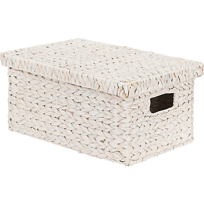 Image for White Water Hyacinth Storage Box Small from StoreName