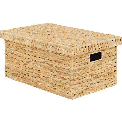 Image for Natural Water Hyacinth Storage Box Large from StoreName