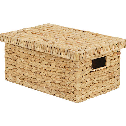 Image for Natural Water Hyacinth Storage Box Small from StoreName