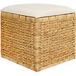 Natural Square Storage Cube With Cushion