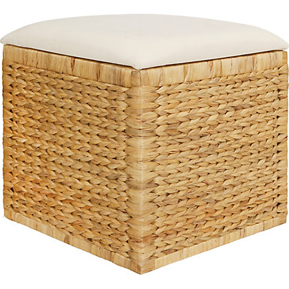 Image for Natural Square Storage Cube With Cushion from StoreName