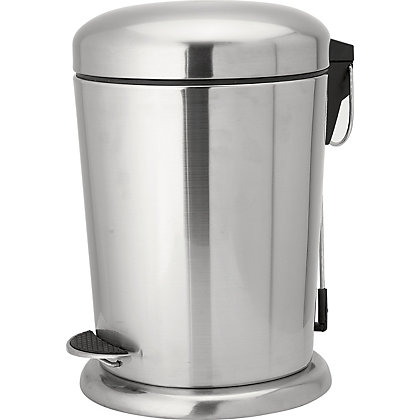 Image for 5L Pedal Bin- Brushed Stainless Steel from StoreName