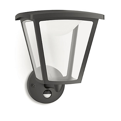 Image for Philips Cottage PIR Wall Lantern - Black from StoreName