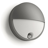 Philips Capricorn Wall Lamp Anthracite With PIR