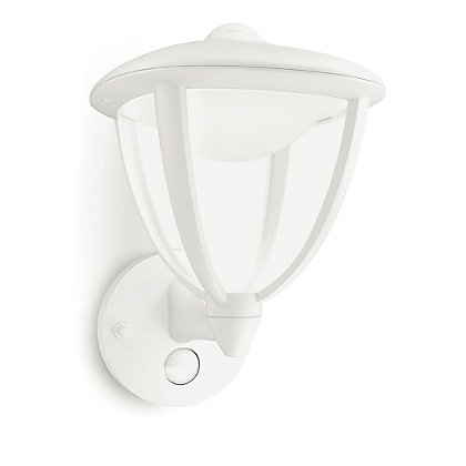 Image for Philips Robin Wall Lantern with PIR - White from StoreName