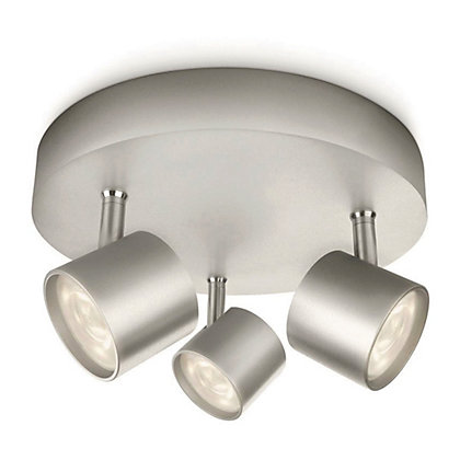 Image for Philips LED Star 3 Plate Spotlight - Silver from StoreName