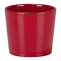 Red Ceramic Indoor Plant Pot - 15cm